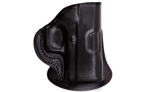 Tagua Gunleather PD2 S&W M&P Shield Paddle Holster, RH, Black Leather