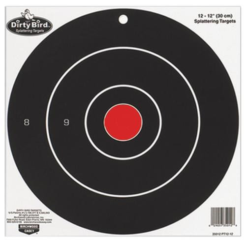 "Birchwood Casey Dirty Bird Splattering Targets 12"" Bullseye, 12/Package"