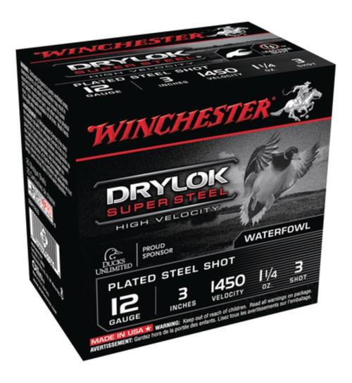 """Winchester Supreme HV Steel 12 Ga, 3"""", 1-1/4oz, 3 Shot, 25rd/Box"""