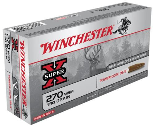 Winchester Super-X Power Core .270 Winchester Short Magnum 130gr, Power Core 95-5 20rd Box