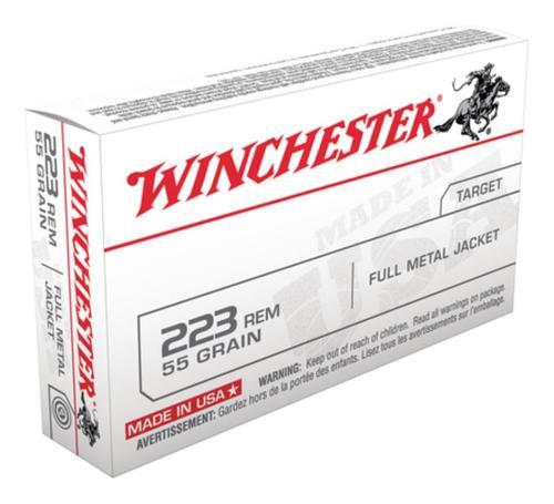 Winchester Ammunition, USA Target, 223 Rem, 55gr, Full Metal Jacket, 20rd Box