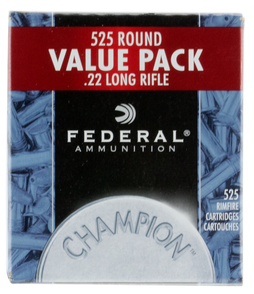 Federal Champion Value Pack 22LR 36 Grain Copper Plated Hollow Point 525 Bulk Rounds Per Box