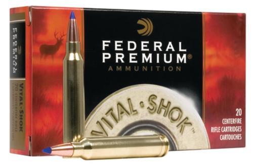 Federal Vital-Shok 7mm Winchester Short Magnum 140 Trophy Bonded Tip Nickel Plated Case 20rd Box