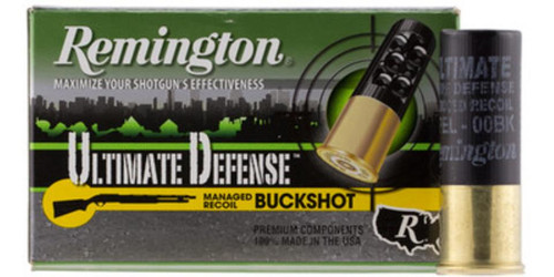Remington HD Ultimate Home Defense 12g Buckshot, Reduced Recoil, 8 Pellets, 00 Buck-Shot, 5rd