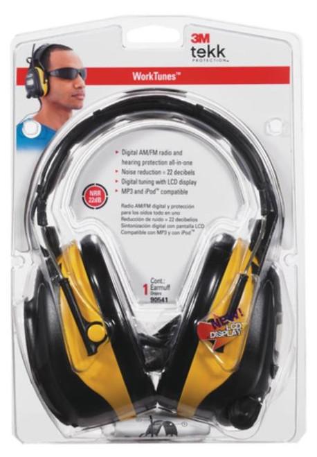 Peltor WorkTunes Hearing Protector With Digital Tuning Yellow/Black