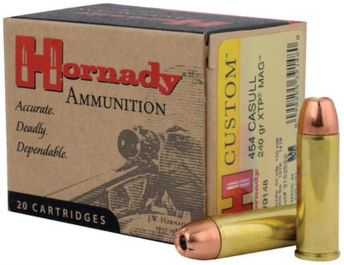 Hornady Custom .454 Casull 240gr, Jacketed Hollow Point, XTP 20rd Box