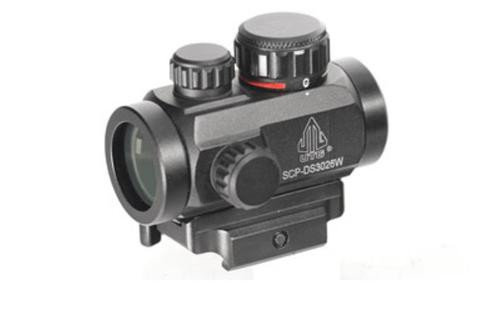 """Leapers, Inc. - UTG Instant Target Aiming Sight, 2.6"""", 30mm, Fits Picatinny, Black, Red/Green CQB Micro Dot, Integral QD Mount"""