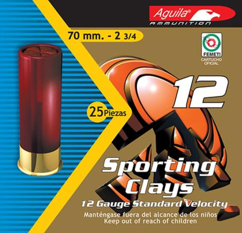 "Aguila Competition High Velocity 12 Ga, 2.75"", 1-1/8 oz, 7.5 Shot, 25rd Box"