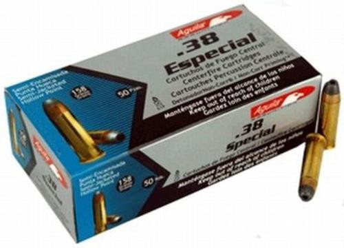 Aguila .38 Special 130 gr, Full Metal Jacket 50rd Box