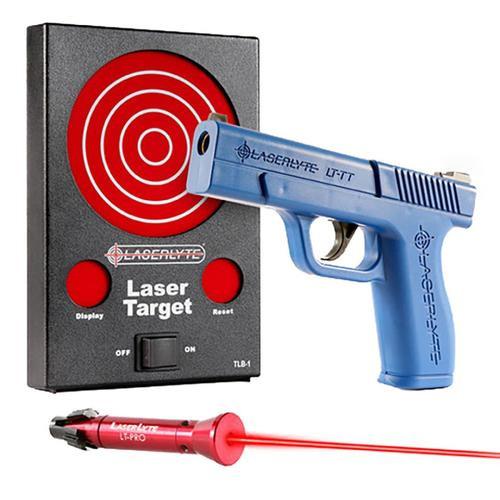 LaserLyte Trainer Bulls-Eye Kit Trigger Tyme Pistol, Interactive Laser Target Board