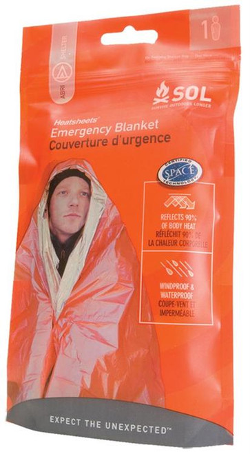 "Adventure Medical Kits Emergency Blanket 1 Person, 56""x84"", Orange/Silver"
