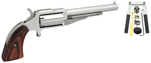 "NAA Revolver Single 22 Black Powder Barrel 4"" Wood Stock 5 Shot"