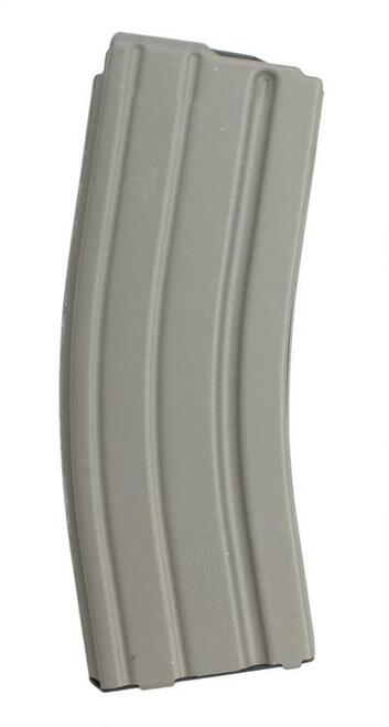 DURAMAG Magazine, 223 Rem/556NATO, 30Rd, Gray, Fits AR Rifles, Aluminum, Black Anti-tilt AGF Follower
