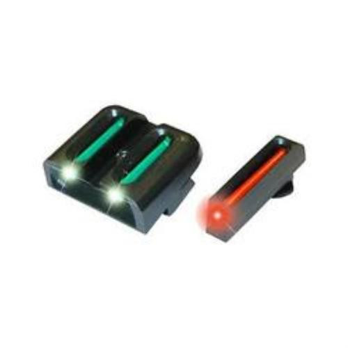 Truglo, Brite Site Fiber Optic Red Front 3 Dot Sight, Green Rear Sight, For Glock 42
