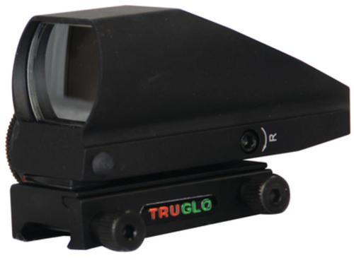 Truglo Tru-Brite Open Red/Green Sight, 5 MOA Dot Single Illuminated Reticles, Matte Black