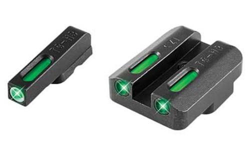 Truglo Sight Set, CZ 75 Series, TFX Tritium / Fiber Optic, Green