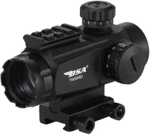 BSA Sporting Optics Tactical Red Dot Sight 35mm 5 MOA Dot Reticle Black
