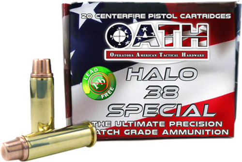 Oath Halo .38 Special, 123 Gr, Special Copper FMJ, 20rd/Box