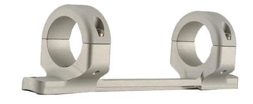 DNZ 1-Pc Med Base & Ring Combo Remington 700 Short Action Silver Finish