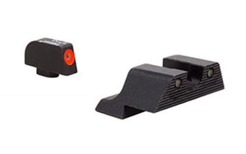Trijicon Tritium 3 Dot Night Sights, HD Glock 45 ACP/10mms, XR NS Orange Front