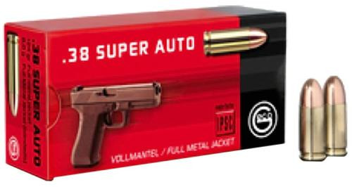 GECO .38 Super 124gr, Full Metal Jacket, 50rd Box