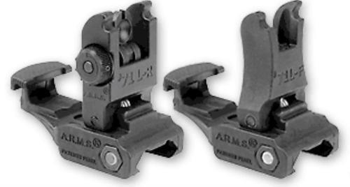 A.R.M.S. #71 Flip Sight Set, Black Polymer, Standard Height, Front & Rear