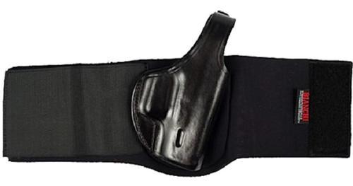 """Bianchi 150 Negotiator Ankle For Glock 26/27 2"""" Adjustable leg strap Black Leather"""