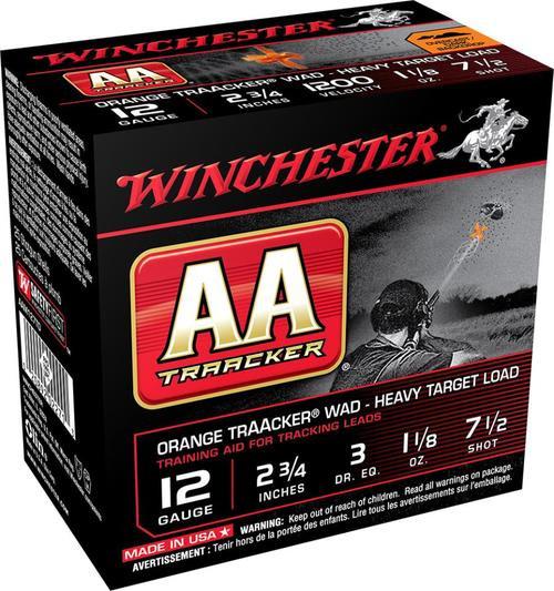 """Winchester AA TrAAcker 12 Ga, 7 1/2 Shot, 2-3/4"""", 25rd/Box"""