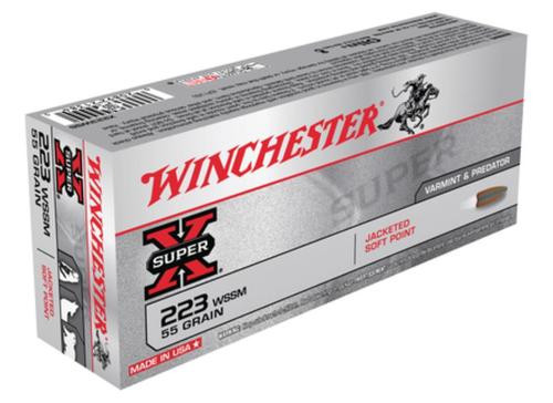 Winchester Super X 223 Win Super Short Mag PSP 55gr, 20Box/10Case