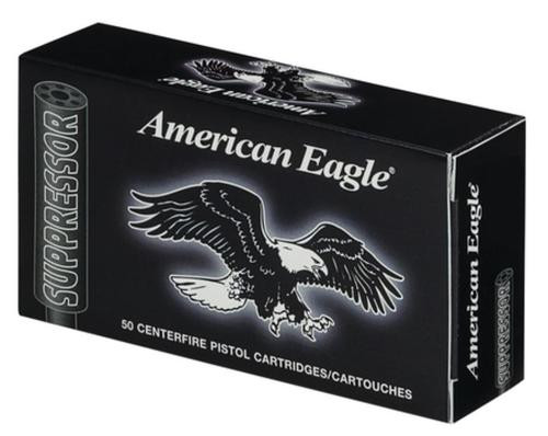 Federal American Eagle Suppressor 45 ACP 230gr, Full Metal Jacket 50rd Box