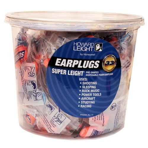Howard Leight R-33333 Super Light Corded Foam Ear Plugs, 1 Pair