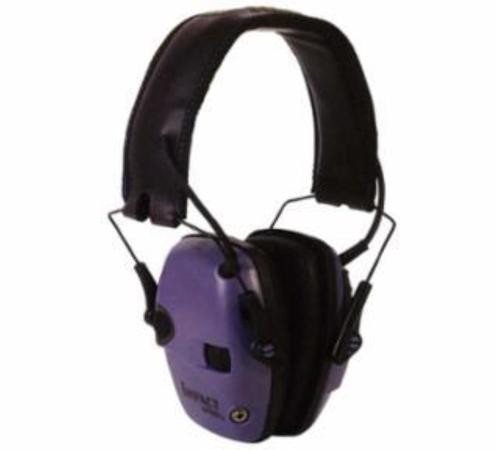 Howard Leight Impact Sport Folding Electronic Earmuff Purple Earcups