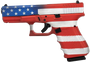 "Glock G19 American Flag 9mm 4.4"" Barrel 3 15rd mags"