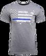 Glock Blue Line Patriot T-Shirt Grey 2XL
