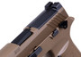 """Sig Sauer P320 M18, Striker Fired, 9mm, 3.9"""" Barrel, Polymer Frame, Coyote Finish, DP Pro Plate, Manual Safety, Night Sights, 1-17Rd Magazine & 2-21Rd Magazines"""