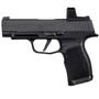 "Sig P365 XL Compact 9mm, 3.7"" Barrel, Polymer, Black, Romeo Zero Reflex Optic, 2x12rd"