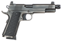 """Dan Wesson Wraith, Suppressor Ready Full Size 1911, 45 ACP, 5.75""""Threaded Barrel, Steel Frame, Stainless Steel Finish, G10 Grips, 8Rd, High Night Sights"""