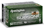 Remington Subsonic 22 LR 40gr, Plated Hollow Point, 50rd Box