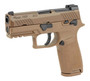 """Sig P320-M18 9mm, 3.9"""" Barrel, Manual Safety, Coyote, Mag Coupon, 1x 17rd"""
