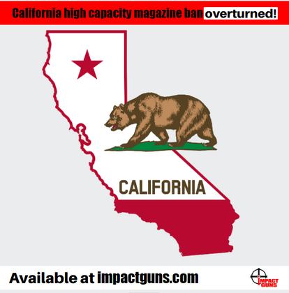 California Federal Judge Strikes Down High Capacity Magazine Ban