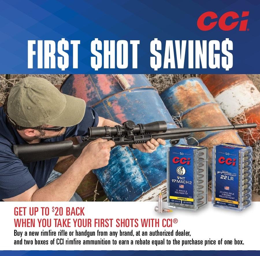 CCI First Shot Savings 2019 Rebate
