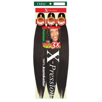 """OUTRE SYNTHETIC PRE STRETCHED ULTRA BRAID - XPRESSION 3X 42"""""""