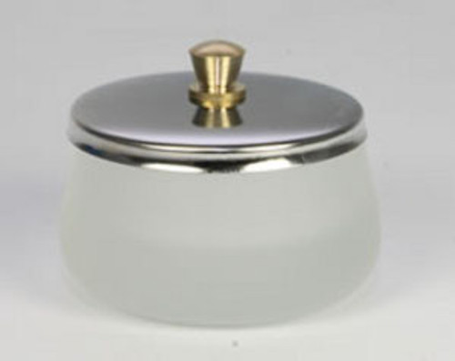 Frosted Dappen Dish with Lid