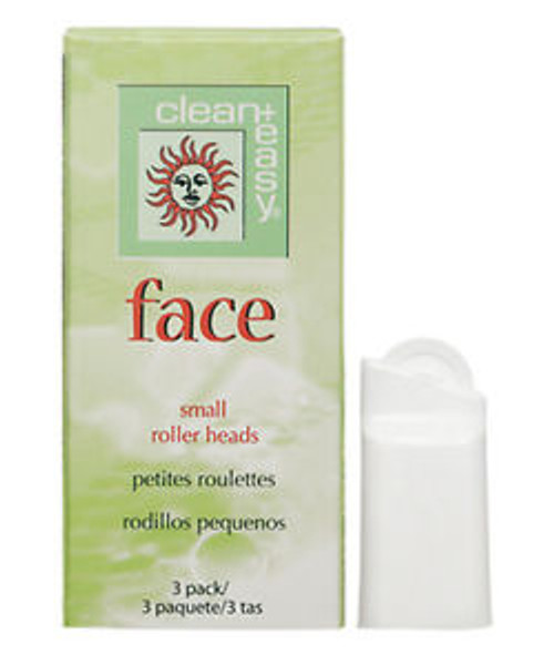 Clean & Easy Small Facial Roller Heads - 3 Pack