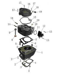 Hawk 250 cylinder head Gasket