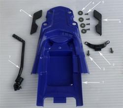Hawk 250 Bolt (Seat Hook)