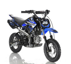 Apollo DB-25 70cc Automatic DIRT BIKE, 4 Stroke Air Cooled, Single Cylinder w/ Training wheels