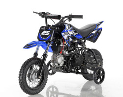 Apollo DB-25 70cc Automatic DIRT BIKE, 4 Stroke Air Cooled, Single Cylinder w/ Training wheels - Fully Assembled and Tested