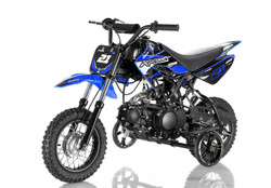 Apollo DB-21 70cc Semi Automatic DIRT BIKE, 4 Stroke Air Cooled w/ Training wheels - Fully Assembled and Tested