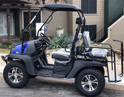 Blue - Fully Loaded Cazador OUTFITTER 200 Golf Cart 4 Seater UTV - Fully Assembled and Tested